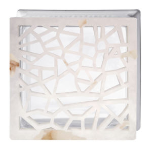 ALABASTER GLASS BLOCK MOSAIC